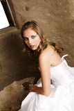 Bride in White Stock Photo