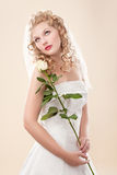 Bride in white dress Royalty Free Stock Photography