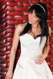 Bride in white dress  Royalty Free Stock Images