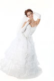 Bride in a white dress Royalty Free Stock Photos