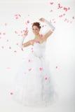 Bride in a white dress Stock Photos