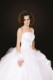 Bride in white dress Royalty Free Stock Photo