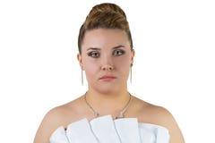Bride with white dress Stock Photo
