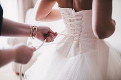 Bride in white dress Royalty Free Stock Photos