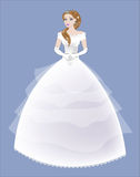 Bride in a white lacy dress Stock Photo