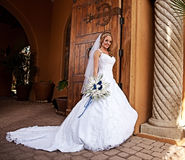 Bride in White Stock Image