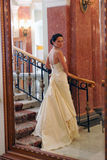 Bride in white wedding dress Stock Photo