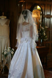 Bride in white wedding dress Royalty Free Stock Images