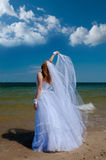 Bride in the wind. Royalty Free Stock Photos