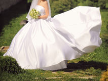 Bride on Wind Royalty Free Stock Photography