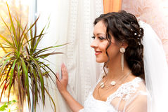 Bride at the window Royalty Free Stock Images