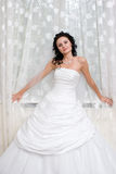 Bride by the window royalty free stock images