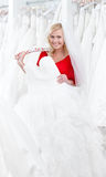 Bride wishes to try dress on Royalty Free Stock Images