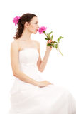 Bride With Flowers Stock Images