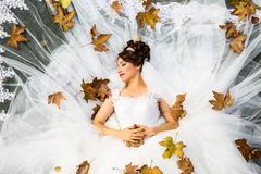 Bride, Woman, Flower, Gown Stock Photos