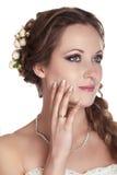 Bride woman portrait studio shot photo Stock Image