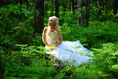 The bride in wood Royalty Free Stock Photos