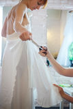 Bride in Workshop Royalty Free Stock Photography