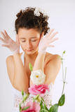 Bride worried Stock Photography