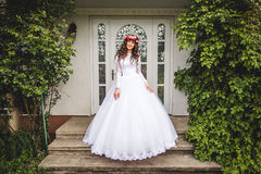 Bride with wreath Stock Photography