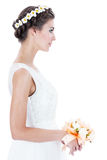Bride with a wreath Royalty Free Stock Photography