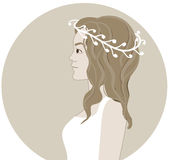 Bride in a wreath Royalty Free Stock Photo