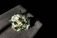The bride's bouquet on the floor Royalty Free Stock Photos