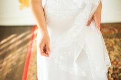 Bride's veil close-up Royalty Free Stock Photo