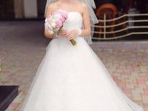 Bride at Yard Royalty Free Stock Photo