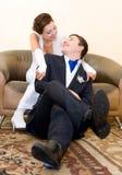 Bridegroom and bride Stock Photos