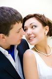 Bridegroom and bride Royalty Free Stock Images