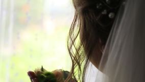 The bridegroom is dressing for wedding.  stock video footage