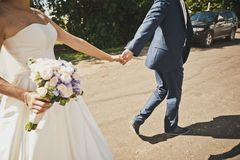 Follow me my bride 7706. stock photography