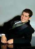 Bridegroom on Piano Royalty Free Stock Photography