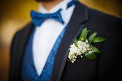 Bridegroom preparing for the wedding Royalty Free Stock Image