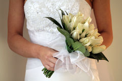 Brides Bouquet. A bouquet of white roses Royalty Free Stock Photos