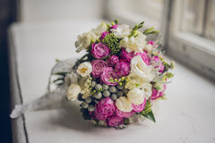 The brides bouquet stock photography