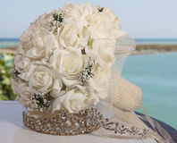 Brides bouquet bunch of flowers Royalty Free Stock Images