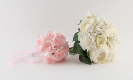 Brides Bouquet and Flower Girl Bouquet Royalty Free Stock Photos