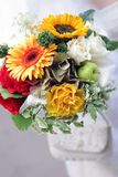 Brides bouquet portrait Stock Images