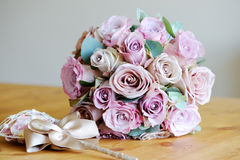 Brides bouquet of roses Stock Photos