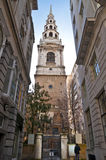 Brides church in Fleet street Royalty Free Stock Photo