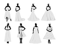 Brides and costume Royalty Free Stock Photos