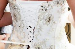 Brides dress back Royalty Free Stock Images