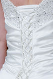 Brides dress back Royalty Free Stock Photos