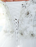 Brides dress back detail Royalty Free Stock Images