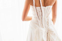 Brides dress from back Royalty Free Stock Images