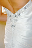 Brides dress detail Royalty Free Stock Images