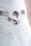 Brides dress detail Stock Photo