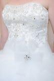Brides dress detail Royalty Free Stock Photo